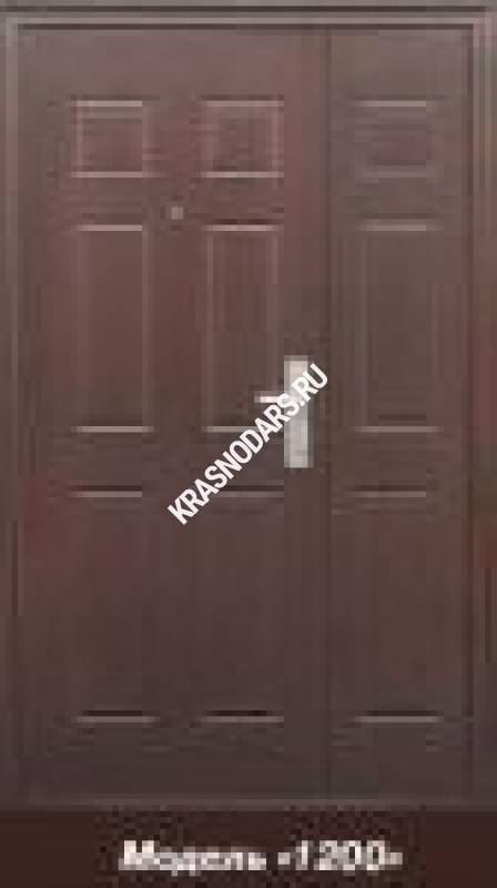 стальная двухстворчатая дверь 1200